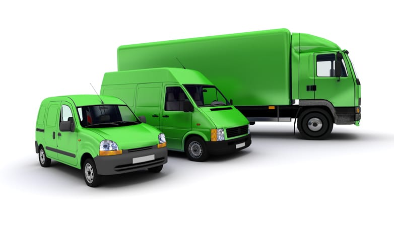 Motor Fleet insurance vehicles in green